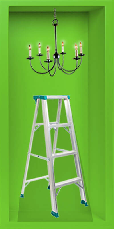 Ladder and Chandelier Animated 1 of 2