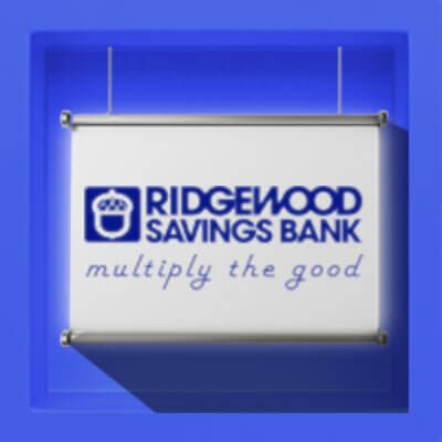 Ridgewood Savings Bank: Multiply the Good Logo Animated