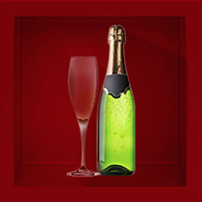 There is a champagne bottle and empty glass, when you hover over it with your mouse, the glass will fill up. When you hover over it, there is another burgundy box next to it that says: 'What happens after closing?' There is a video link to the answer.