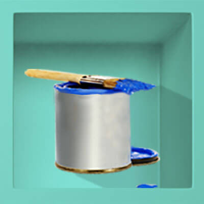There is a paintbrush and paint can with blue paint, and if you hover over it with the mouse, the paint will cover the can. If you click on the box another turquoise box next to it will pop up that says: 'Should I get a prequalification before I look for a home?' There is a video link to the answer.