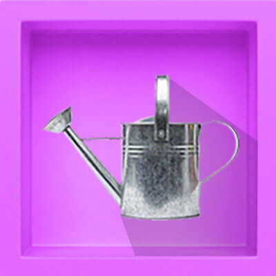 There is a watering can, and if you hover over it with your mouse, the watering can will water the flowers that pop up out of the ground. If you hover over it, another pink box pops up that says: 'What should I be doing to get ready?' There is a video link to the answer.